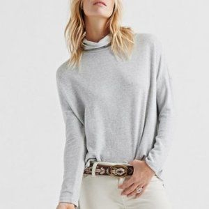 Lucky Brand Cloud Jersey Cowl Neck Pullover XL New